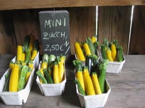 Minizucchini zum Mitnehmen
