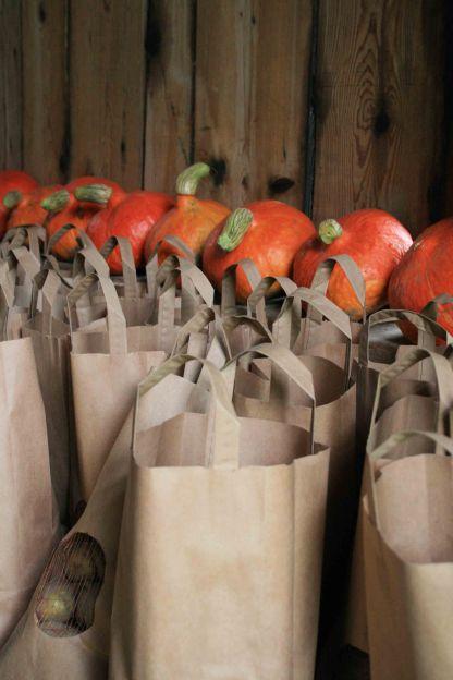 Erdäpfel und Kürbisse zum Mitnehmen
